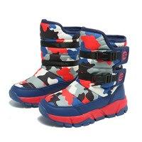 Mudipanda Waterproof Girls Boots Round Toe Mid Calf Winter Snow Boots For Children Outdoor Warm Kids Shoes Platform Fashion 2018