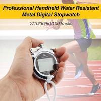 1 Uds cronómetro profesional de mano resistente al agua Metal Digital cronógrafo deportes entrenamiento temporizador multi herramienta