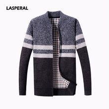 LASPERAL 2018 New Fashion Men Wool Cardigan Sweaters Men'S Thick Stand Collar Pullover Warm Long Sleeve Slim Solid Mens Sweaters