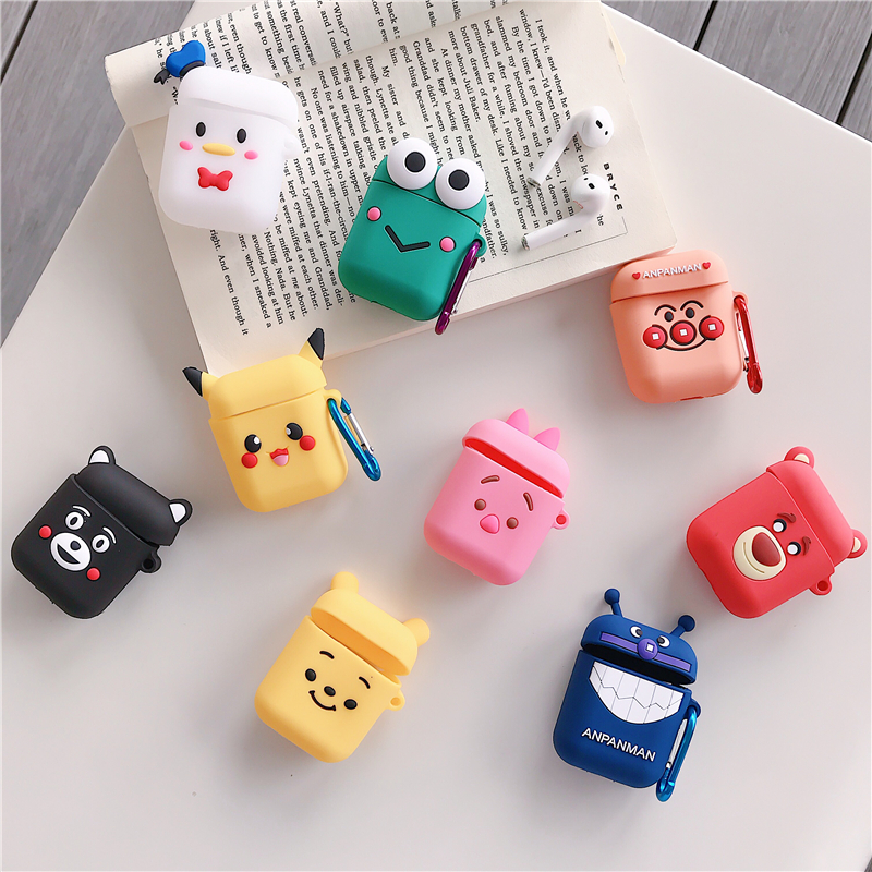 For Apple font b AirPods b font Silicone Charging Headphones Cases Cartoon Wireless Bluetooth Earphone CaseFor