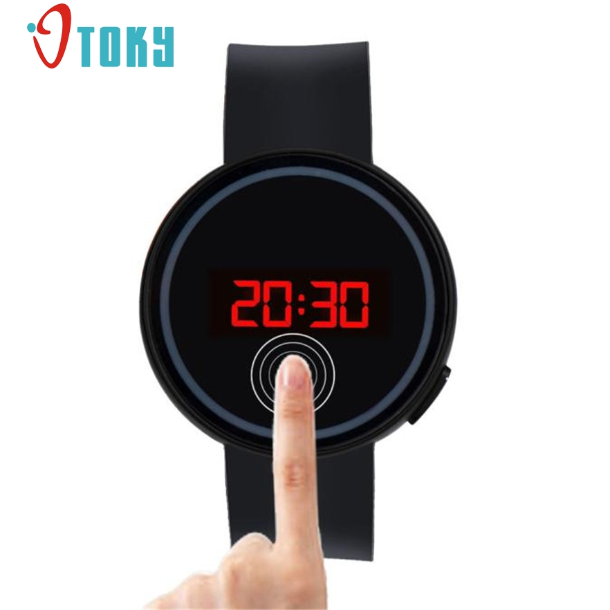New Arrive Wrist Watch For Men Women Fashion LED Touch Screen Wristwatches Silicone Male Clock Hours Gift 1pcs