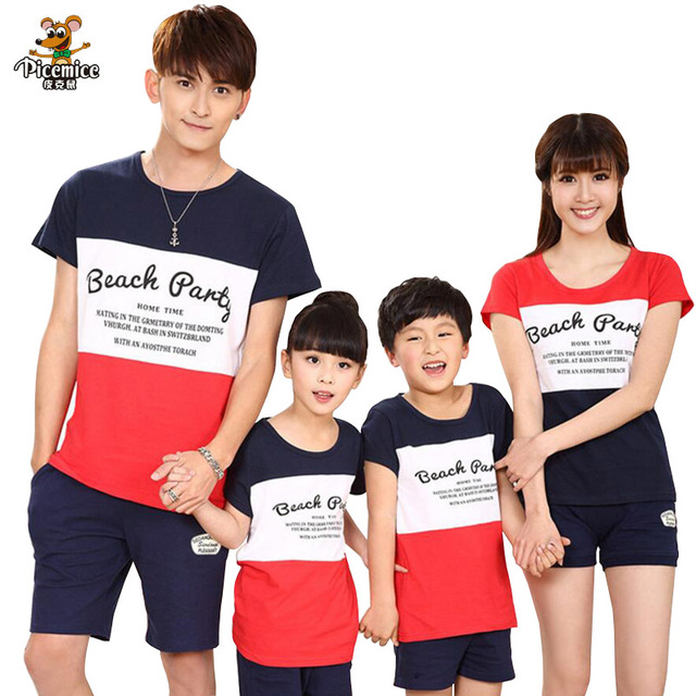 5970174f9246 Matching Family Clothing 2019 summer Fashion Striped T-shirt shorts Mother  Daughter Clothes Father Son Family Matching Outfits