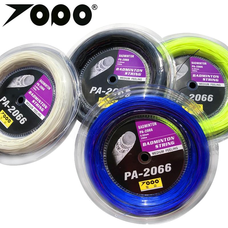 Free Shipping 2 Reels  200m 0.66mm TOPO PA-2066 Badminton String/badminton Racket String