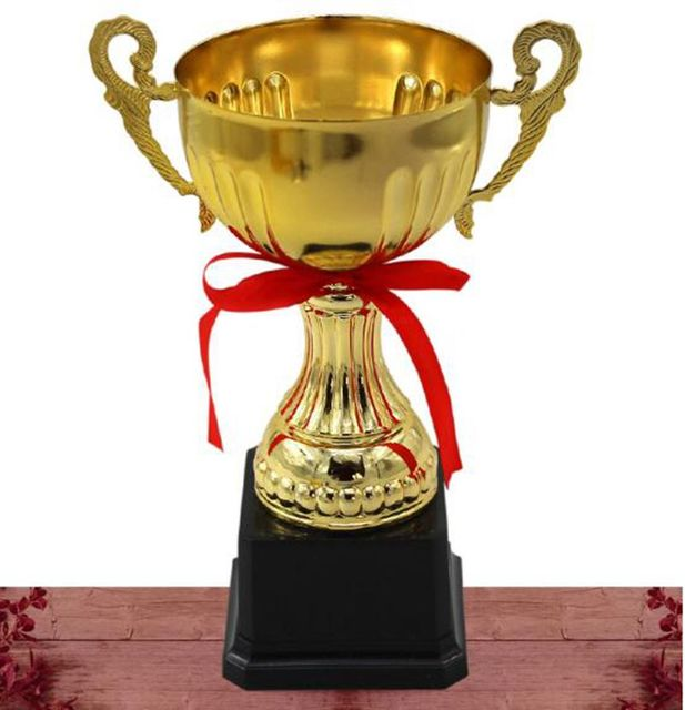 New 24 Cm Metal Trophy Big Ears Badminton Basktball Champions League Golf