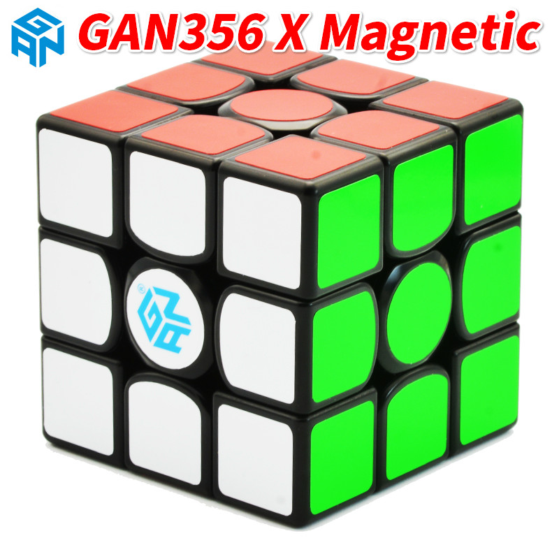 New GAN356X Magnetic 3x3x3 Speedcube Professional Speed Magic Cube GAN356 X 3x3 Cubo Magico GAN 356 X Puzzles for Children-in Magic Cubes from Toys & Hobbies    1