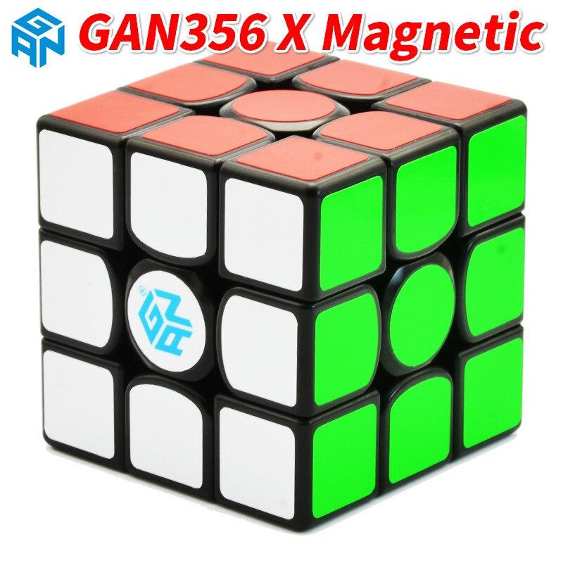 Nowy GAN356X magnetyczny 3x3x3 Speedcube profesjonalna prędkość magiczna kostka GAN356 X 3x3 Cubo Magico GAN 356 X puzzle dla dzieci w Magiczne kostki od Zabawki i hobby na  Grupa 1