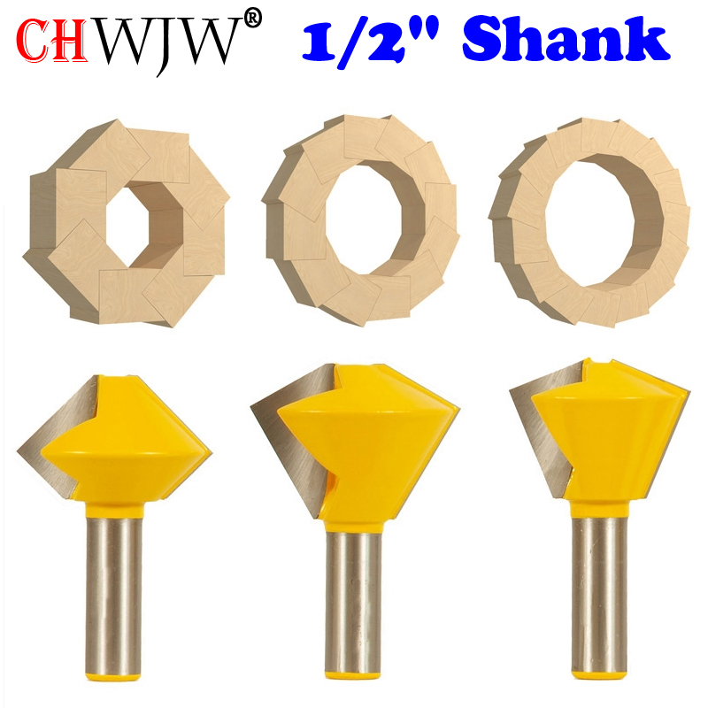 1PC 1 2 quot Shank 6 Sided 8 Sided 12 Sided 16 Sided Multi Sided Glue Joint Router Bit Set 15330 in Milling Cutter from Tools
