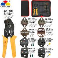 Alicates SN-48B 7 la mandíbula para tab C3 DuPont 2,54 de 3,96 de 2510 enchufamos/tubo/aislamiento terminales kit bolsa herramientas de marca de abrazadera eléctrica