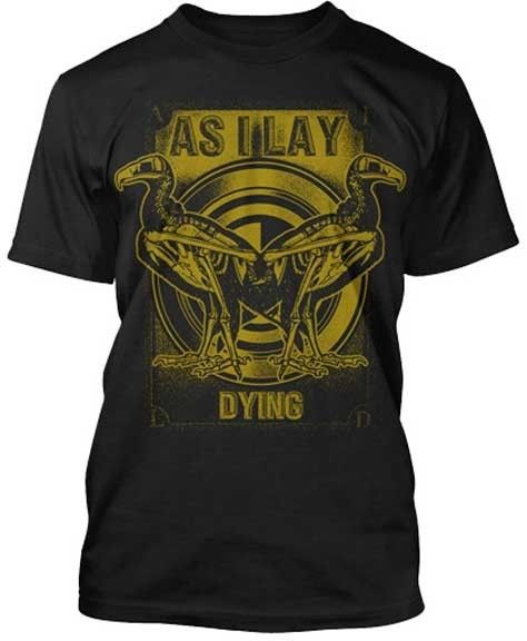 As I Lay Dying Skeleton Vultures T Shirt S M L Xl 2Xl Brand New Official