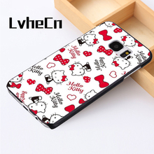 LvheCn phone case cover For Samsung Galaxy S3 S4 S5 mini S6 S7 S8 edge plus Note2 3 4 5 7 8 Hello Kitty Pattern Love Hearts