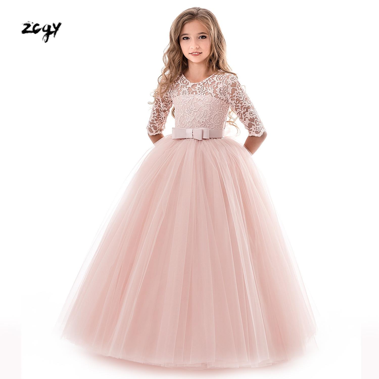 12982b11c Summer Girl Lace Dress Long Tulle Teen Girl Party Dress Elegant ...