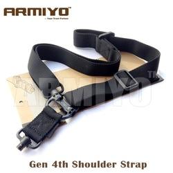 Armiyo Taktische Gewehr Mission Sling Gun Schulter Strap m4 1,25 Quick Release Schleife Haken Jagd Beutel Zubehör