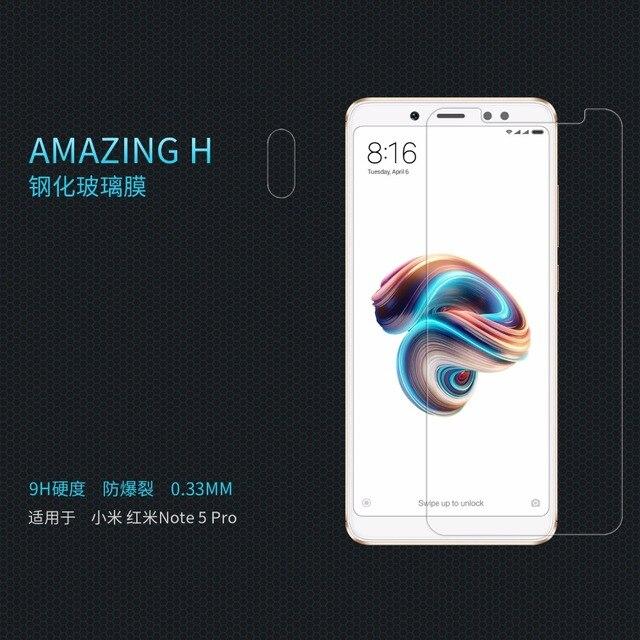xiaomi redmi Note 5 Pro protective Glass Super clear Screen Protector NILLKIN Amazing H Nanometer Anti-Explosion glass film