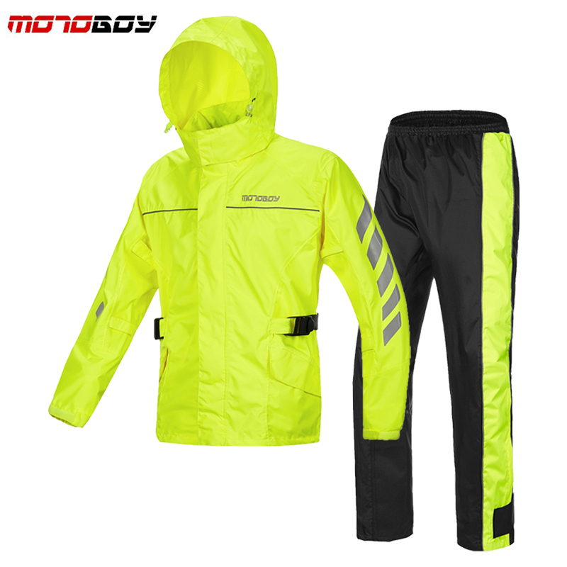 MOTOBOY Rain coat Outdoor sports jacket motorbike raincoat suit motorcross Impermeable waterproof Fishing  raincoat RJ01 P01 benkia motorcycle rain coat two piece raincoat suit riding rain gear outdoor men women camping fishing rain gear poncho