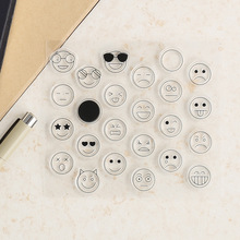 High Quality New  Ins Emoji Emoticon Clear Stamps for Scrapbook Silicone PVC Stamp ST0015