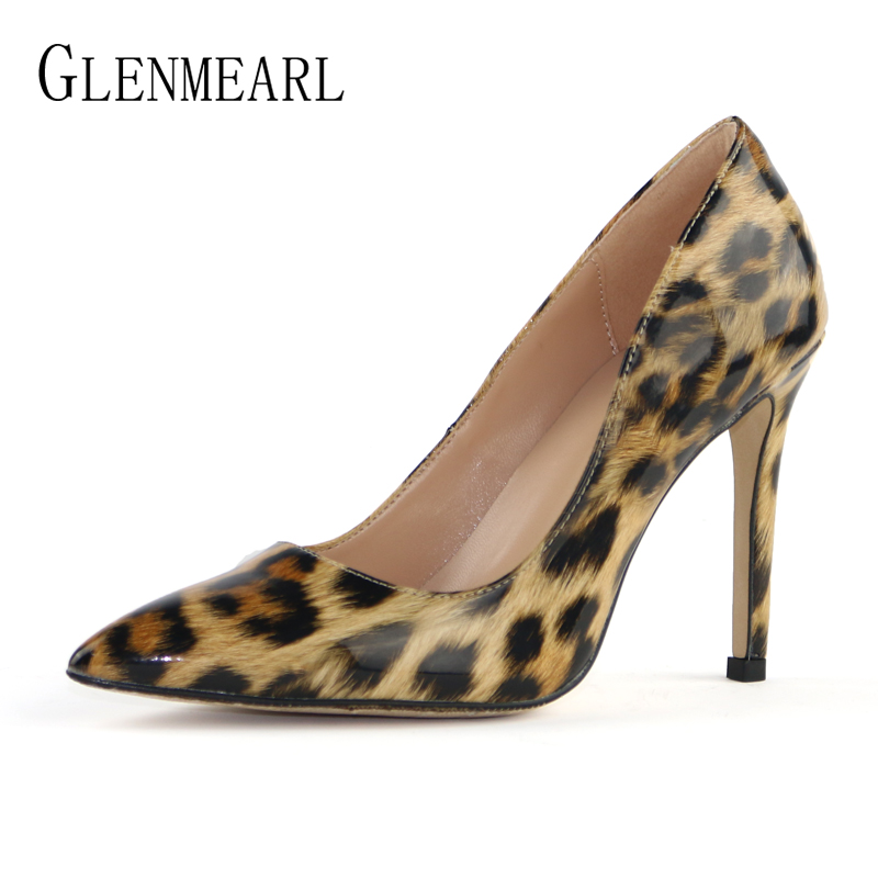 Sexy Women Pumps Leopard Shoes Woman High Heels Stiletto Evening Shoes Female Pointed Toe Women Wedding Shoes Designer Heels DE 2018 pointed toe high heels wedding shoes for brides brand designer fashion sexy evening high heels women stilettos nysiani
