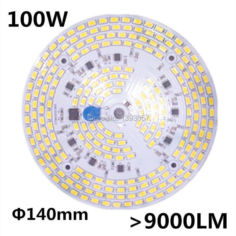 100 W SMD 5730 5630 LED PCB avec LED instal SMD5730 et pilote IC. Plaque en aluminium, livraison gratuite