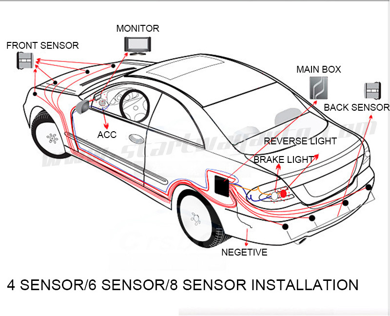 Aliexpress Buy Car Parking Sensor 42 For Front And 4 For Back