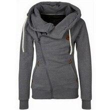 New Arrival Autumn Winter Solid Women Hoodies Sweatshirt Zipper Design Hoody Thicken Hoodie Tracksuit Women 2017 Hot Sale