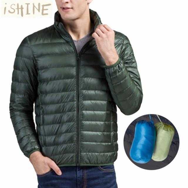ISHINE napapijri Mens de la Marca de moda Abrigo de Invierno Chaqueta Caliente Ocasional de Los hombres de Algodón Gruesa Parkas Con Bolsa de Almacenamiento