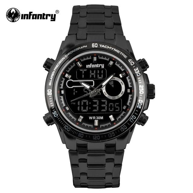 5921a7e6dc0 INFANTARIA Militar Homens Relógio LED Digital Quartz Relógio de Pulso Mens  Relógios Top Marca de Luxo