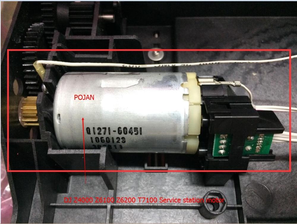 MOTOR FOR Q6651-60284 CQ109-67021 Q1273-60255 Designjet Z4000 Z4500 Z6100 Z6200 T7100 T7200 PS Service Station Assembly Motor encoder sensor card for designjet z4000 z4500 z4520 z6100 z6200 fix 8x xx1 plotter ink parts