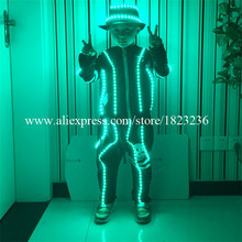 Birthday Gift LED Luminous Children Robot  Suit Clothing  Illuminate Flashing Led Costumes Party Dress For Children's Day
