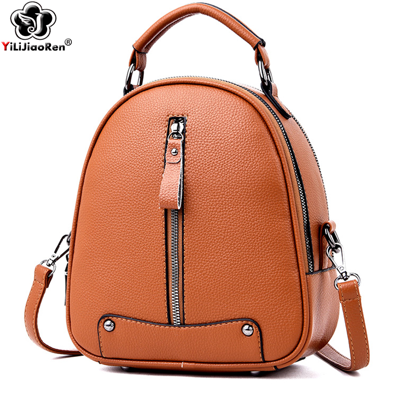 Cute Backpack for Women High Quality Female Leather Large Capacity Kawaii Rivet Shoulder Bags 2019