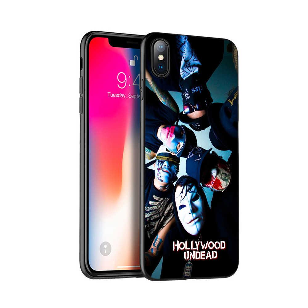 أسود tpu حالة ل iphone 5 5s se 6 6s 7 8 زائد x 10 حالة غطاء سيليكون ل iphone XR XS ماكس حالة هوليوود أوندد