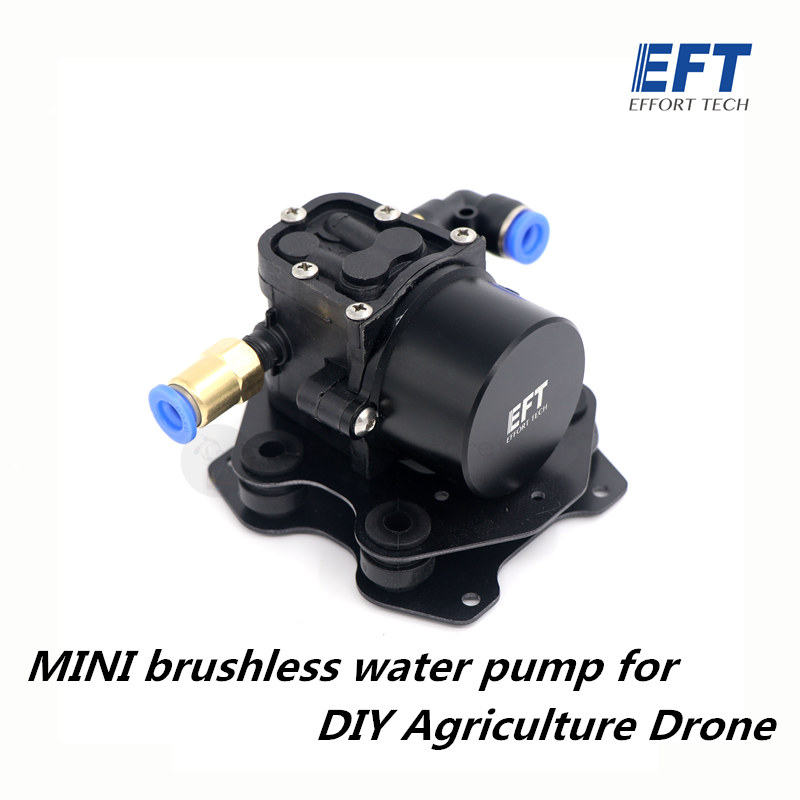 EFT Mini Brushless Water Pump Spraying Pesticide Miniature Pressure Reflux Diaphragm for DIY Agriculture spray drone 5L 10L