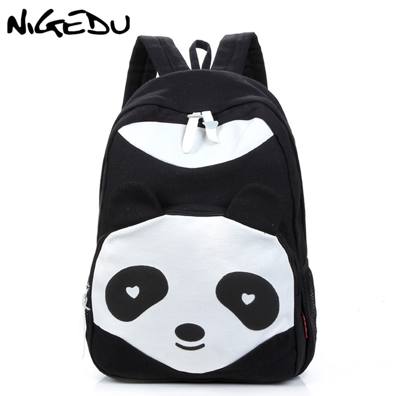 Cute cartoon panda women backpack Leisure canvas backpack for teenage girls rucksack printing school bags back pack mochilaCute cartoon panda women backpack Leisure canvas backpack for teenage girls rucksack printing school bags back pack mochila