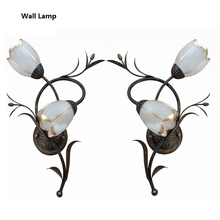 Nordic Retro lamba aplik For Home Lighting American Country Loft Dinning Room Bedroom luminaria Flower Wall Lamps Indoor Modern
