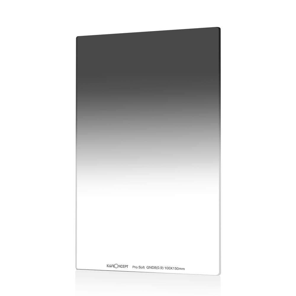 K & f conceito 100x150mm macio grad nd8 quadrado neutro densidade filtro 3 paradas multi revestido compatível com cokin z suporte
