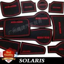 Коврик для автомобиля SOLARIS/коврик для hyundai Solaris ворота Слот Коврик для двери светящийся нескользящий межкомнатный коврик/коврик для чашки