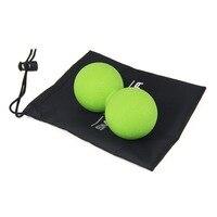 TPR Massagem Amendoim Bola Dupla Bola de Lacrosse do Ponto do Disparador Yoga Massagem Massager Bola Esfera Da Ginástica Da Aptidão Para A Construção Do Corpo