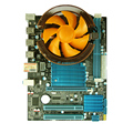 Placa base de un conjunto x58 Desktop board banda E5645 banda VENTILADOR del disipador de calor