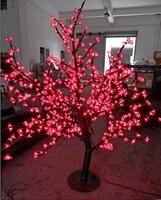 Libérez le bateau 648 pcs Led 5ft 1.5 m LED De vacances De Noël Nouveau année partie accueil Lumière Arbre Fleur De Cerisier Rouge Une Utilisation En Extérieur étanche