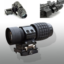 Tactical 3x magnifier scope Hunting Airsoft 3X30mm Magnifying Scope Focus Adjusted With Flip Up Mount