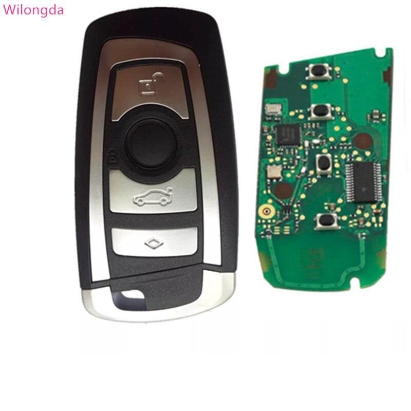 Wilongda 4 Button Smart Car Remote Key Keyless car key 868Mhz 434mhz pcf7945 Chip For BMW
