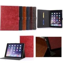 De moda de alta calidad tablet soporte cubierta de Cuero para el ipad 5 aire ipad para Apple caso Elegante de aire1 A1474 A1475 A1476