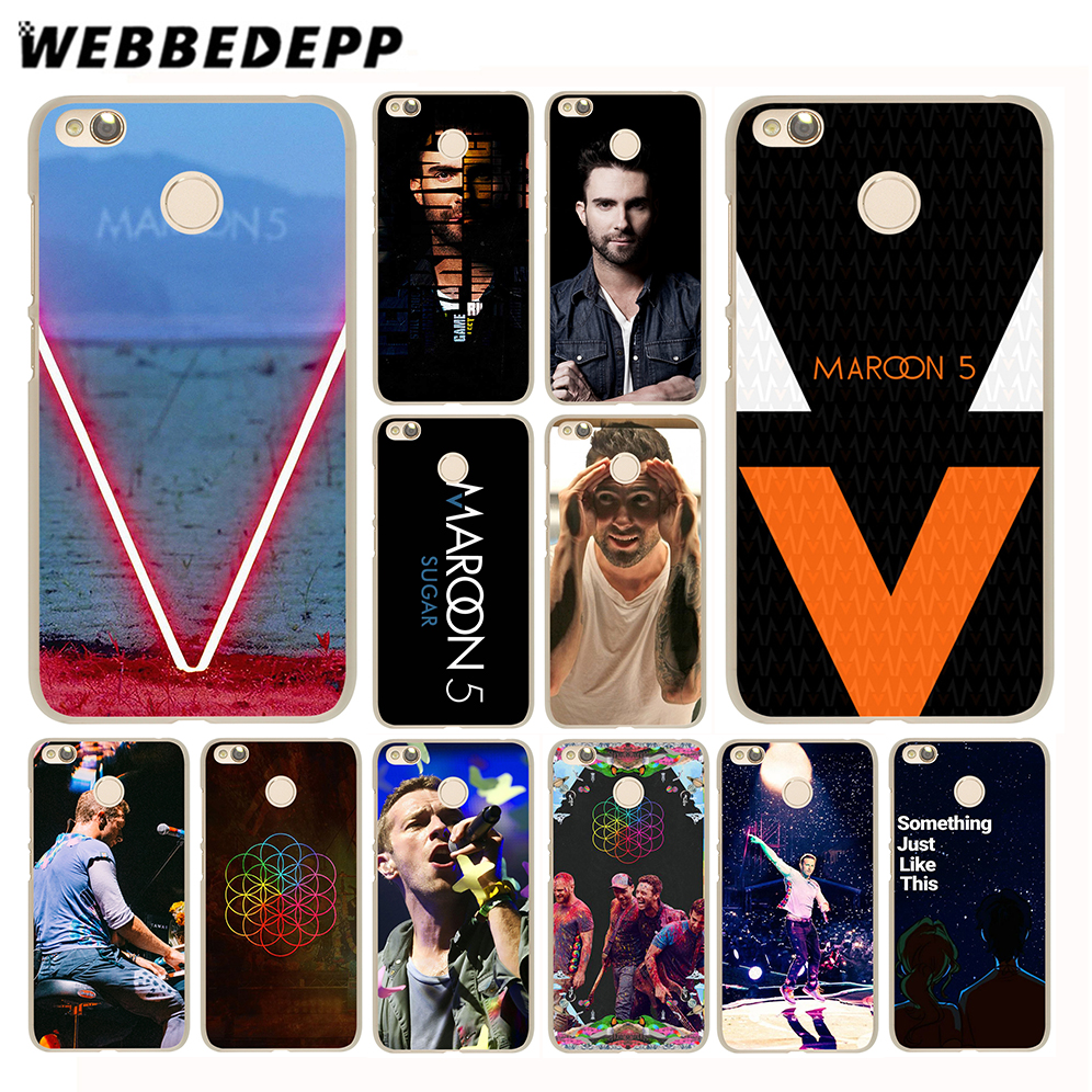 WEBBEDEPP Maroon 5 Coldplay Bands Case for Xiaomi Mi 8 SE A1 6 5X 5S Plus MiA1 Mi6 & Redmi Note 5 4 4X 4A 5A Prime Pro