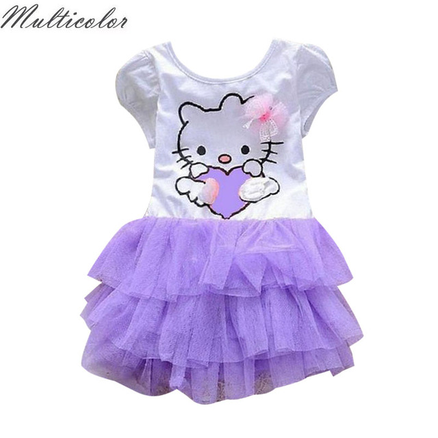 dd89d12dd1fdc US $8.27 8% OFF|2018 Girl's Hello Kitty Dress Custom Party Vestidos  Princess Tutu Purple Baby Girls Children Dress Children Cosplay Girls  dress-in ...