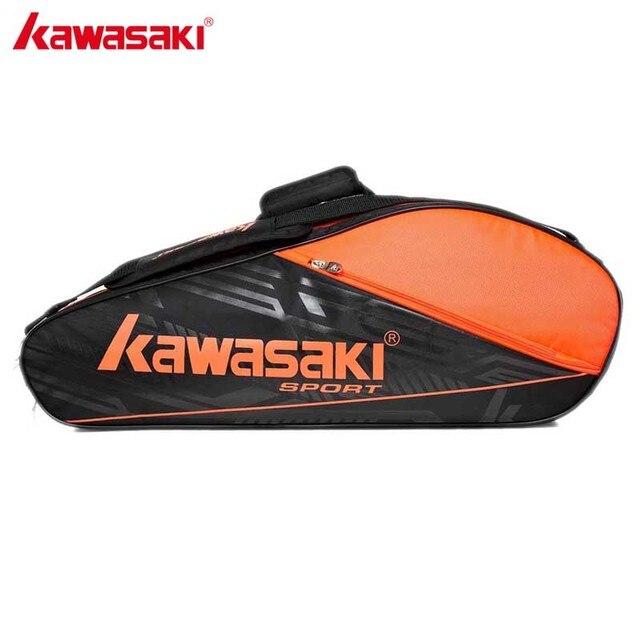 Kawasaki Original Racket Should Racquet Sports Badminton Bags Single Shoulder (for 6 Rackets) Tennis Racket Bag Gym TCC-055