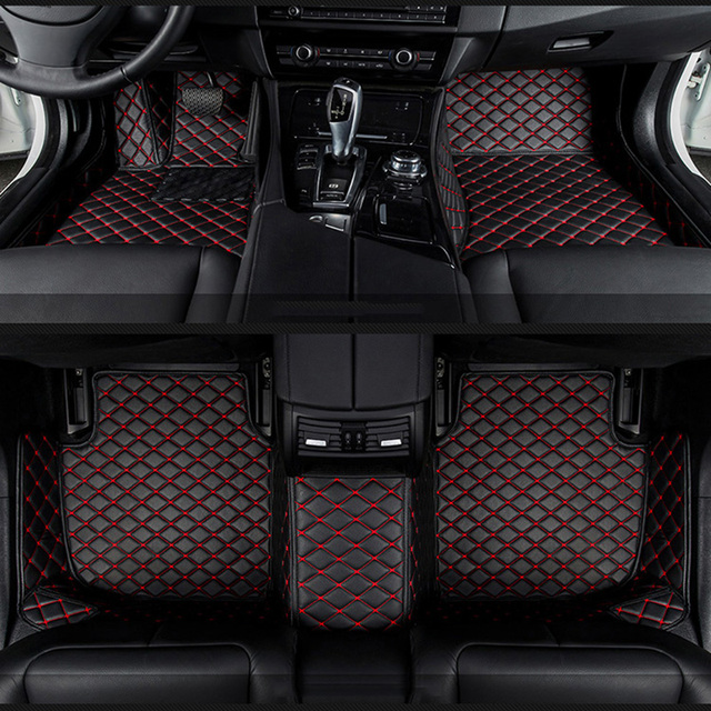 car floor mats for Jaguar XF XE XJL XJ6 XJ6L F-PACE F-TYPE brand firm soft car accessories car styling Custom floor mats Red