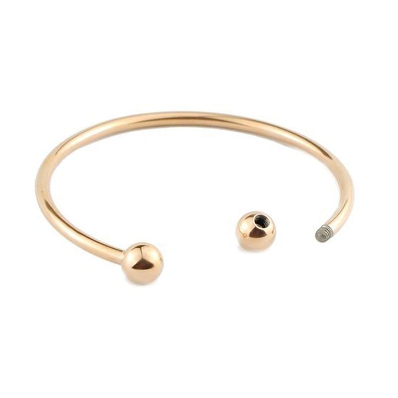BS001-21 DIY bangle bracelets for women stainless steel
