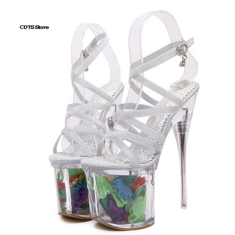 20 Croix Boucle Mince Cad Pompes Femme Transparent sangle Mariage Or 19 De Cm formes Plates Cristal argent Diamant Sandales Chaussures Talons Fleur ZrOvqZ0