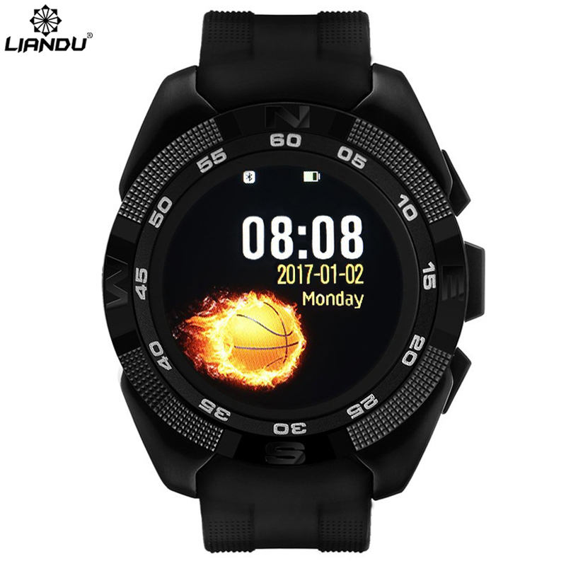 LIANDU Men Smart phone watch Heart Rate Step counter Stopwatch Ultra thin Bluetooth Wearable Devices Sport For IOS Android X4 curren smart phone watch men watch heart rate step counter stopwatch ultra thin bluetooth wearable devices sport for ios android
