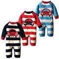 Winter Plus Velvet Baby Rompers Fashion Striped Car Pattern Newborn Baby Clothes Brand Warm Infant Boys Romper Newborn Clothing
