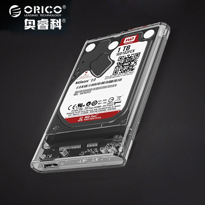 "ORICO 2.5"" Transparent Sata3.0 to USB3.0 HDD Case Tool Free HDD Enclosure External Hard Drive Box for Samsung Seagate SSD 2139U3"