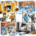299 шт. 4in1 Бела Лев/Ice Bear/Крокодил/Саблезубый Тигр Племя Pack Строительные Блоки Кирпичи совместимость с Lego